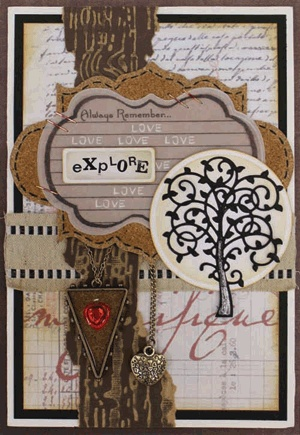 """""""Mixed Media Cards"""" by: Judi Kauffman - image 1 - for Scrapbooking.com March 2013 issue"""