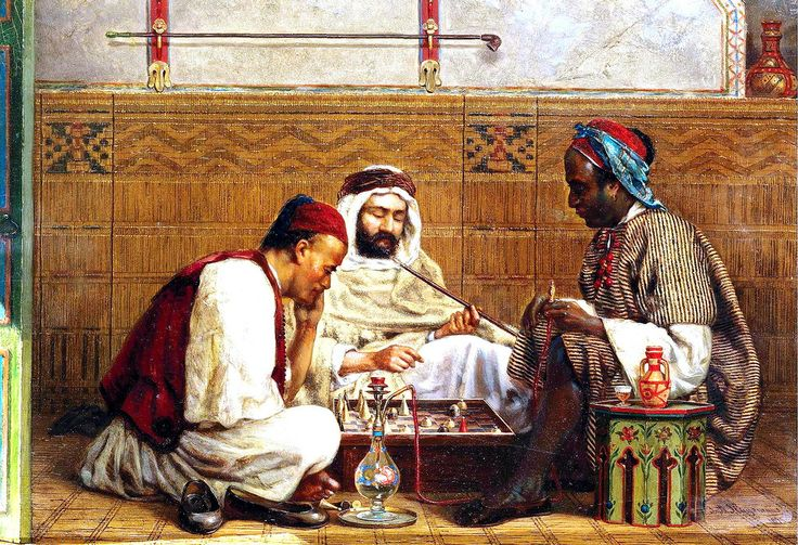 Jan Baptist Huysmans Belgian 1826 1906 A Game Of Chess Arabian Art Art Art Painting