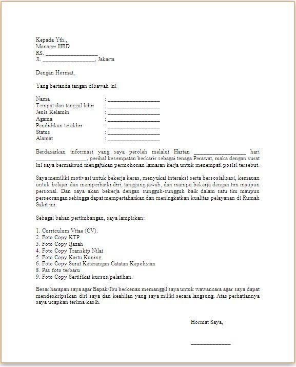 contoh surat lamaran kerja waitress lina unpuntounarte