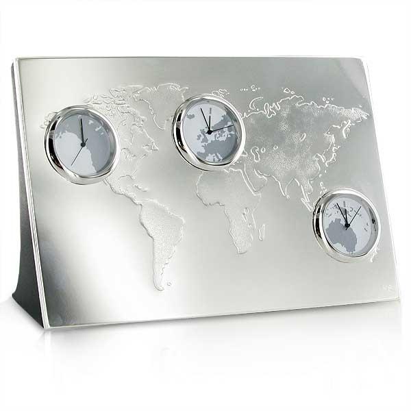 Newbridge Silver Plated World Clock