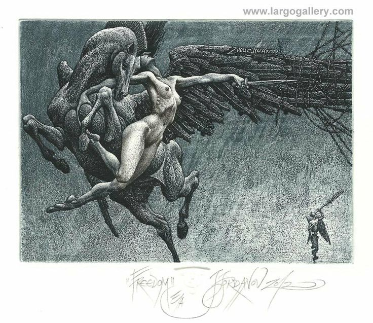 "http://www.largogallery.com/ Julian Jordanov, ""Freedom"", paper, etching, 9/13"