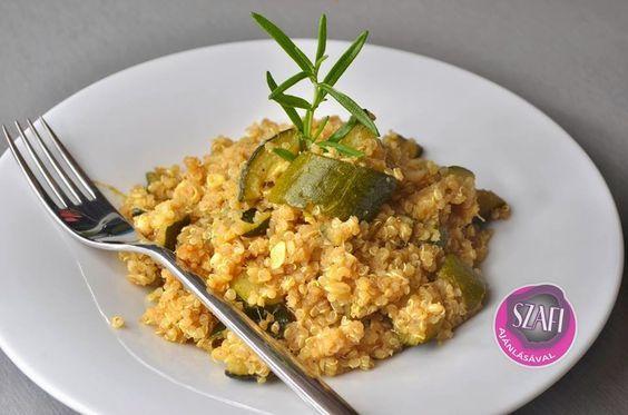 Quinoa-s cukkini (gluténmentes vegán ebéd ötlet)