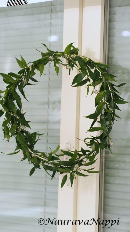 Joulukranssi ruscuksesta / ruscus wreath