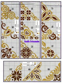 Anaide Cross Stitch: Part corner barred graphics in cross stitch !!!!