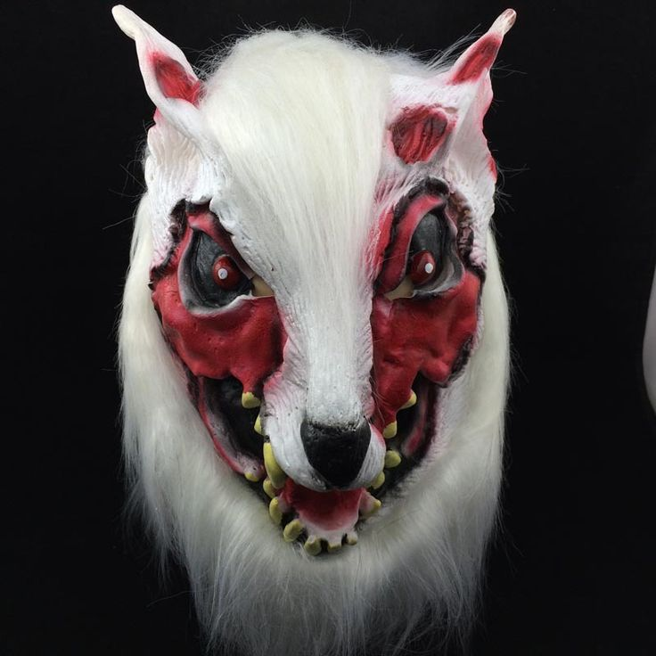 Bloodcurdling Painted Face Wolf Mask For Halloween Masquerade Shows Parties Realistic Crazy  Gags&Practical Jokes Toys TH0007