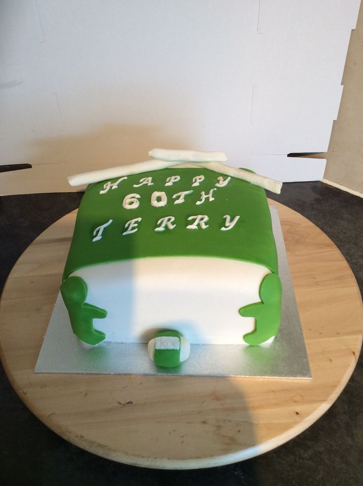 Rugby birthday cake