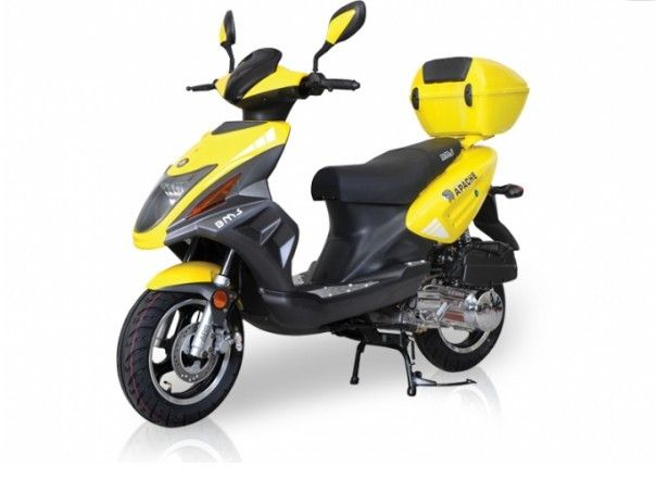 Gas Scooter TUSCAN 50cc - 3.0 HP 4 stroke SOHC Air cooled - Fully Automatic (CVT) Belt Drive - Stainless steel Bolts & Nuts - Dual Stage Paint Treatment