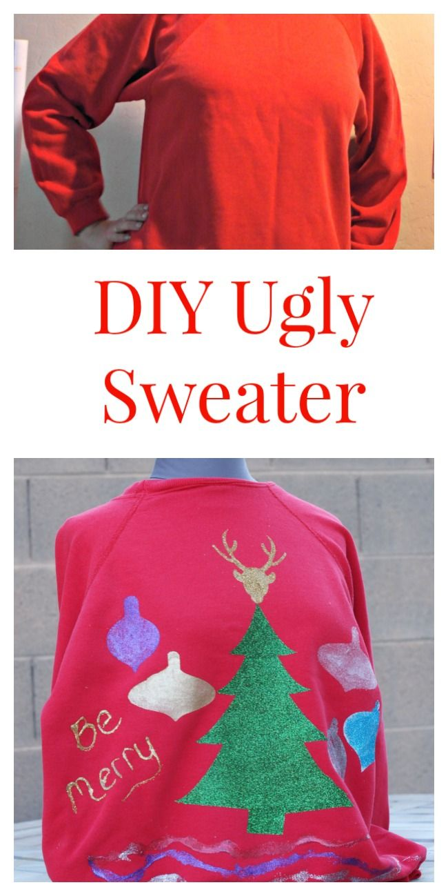 DIY Ugly Christmas Sweater by the @cleverpirate
