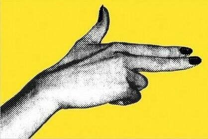 Pop art // hand gun