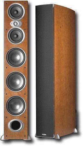 "Polk Audio - 7"" 3-Way Floor Speaker (Each) - Cherry (Red)"