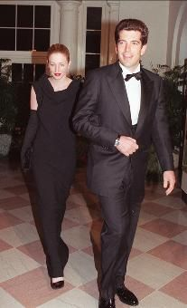 John Jr. and wife Carolyn Bessette arrive at the White House for a state dinner in honor of British Prime Minister Tony Blair. The couple and Bessette's sister died in a small plane crash in July 1999.