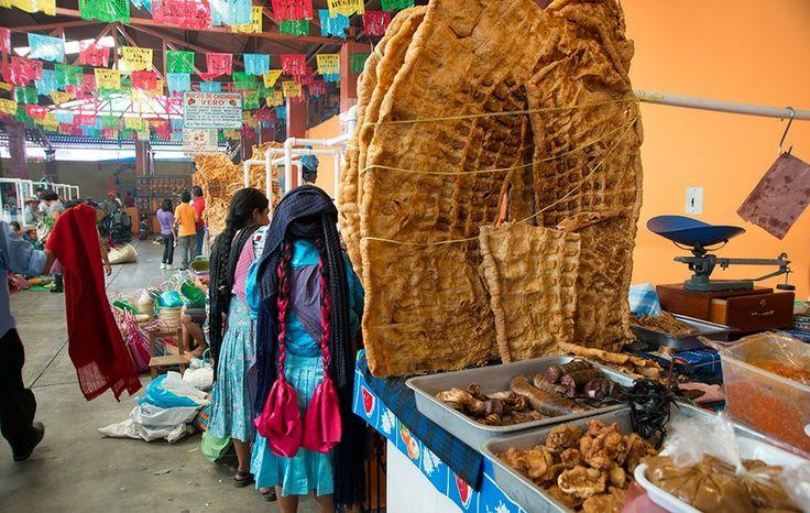 Chicharones in Tliacolula, Oaxaca, Mexico