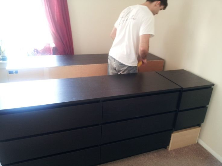 Ikea hack bed frame with drawers