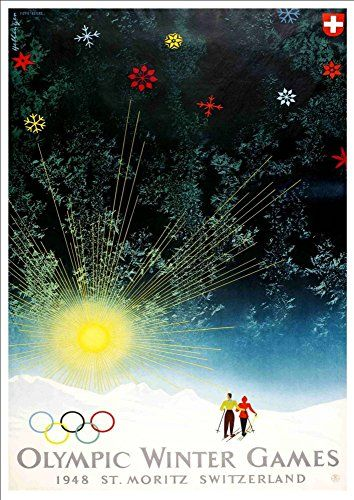'St. Moritz - Switzerland' (6) - A4 Glossy Art Print Taken From A Rare Vintage Travel Poster by Vintage Travel Posters http://www.amazon.co.uk/dp/B01BHP4VGK/ref=cm_sw_r_pi_dp_lJgTwb0JVP550