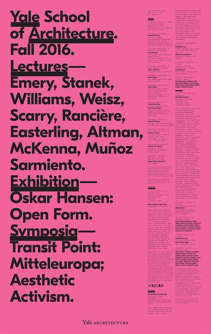 Michael Bierut, graphic design, poster, typography, pink