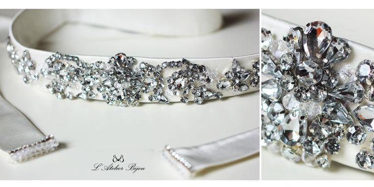 Bridal crystal belt #crystal #custom #design