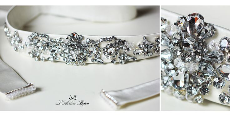 Bridal crystal belt #crystal #custom #design