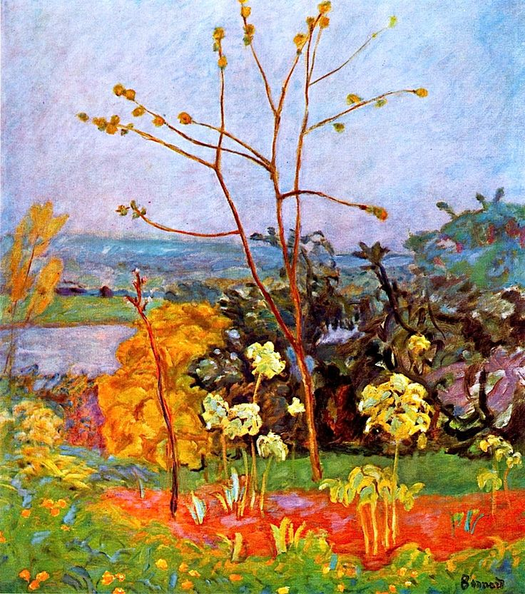 Pierre Bonnard - Jardin à Vernon,  1920-25