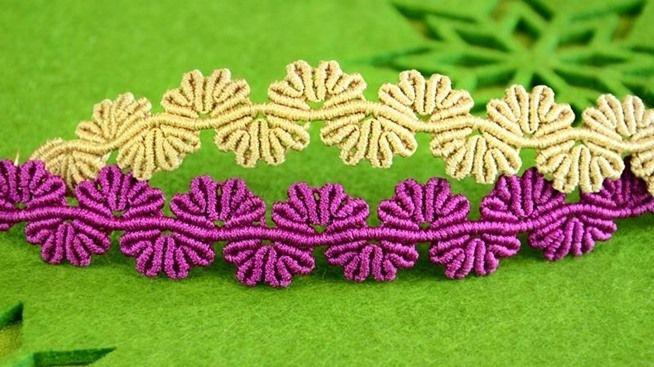 Wavy Flower Lace Bracelet Tutorial « Jewelry