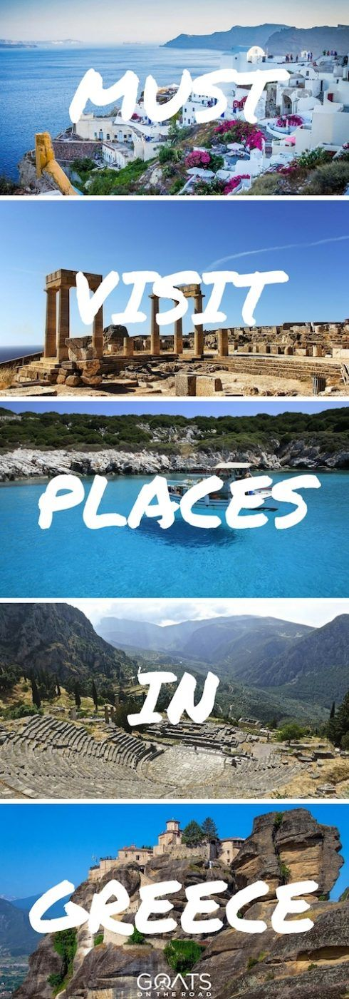 The greek islands are some of the most beautiful places in Europe. Check out these must visit places in Greece & plan your ultimate greek travel itinerary with tips on where to stay & what to do | #greece #greekislands #bestofgreece #travelgreece #bestofeurope #europe #europetravel #europeantravel #bestintravel #travel #backpacking #santorini #nafplio #corfu #knossos #zakynthos #athens #rhodes #meteora #delphi #skyros #olympia #skiathos #halkidiki #mycenae