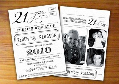 for richer or poorer: My 21st invites
