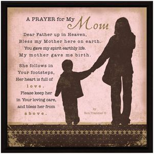 Prayers for My Family's Guidance | Prayer For My Mom Inspirational Christian Plaque