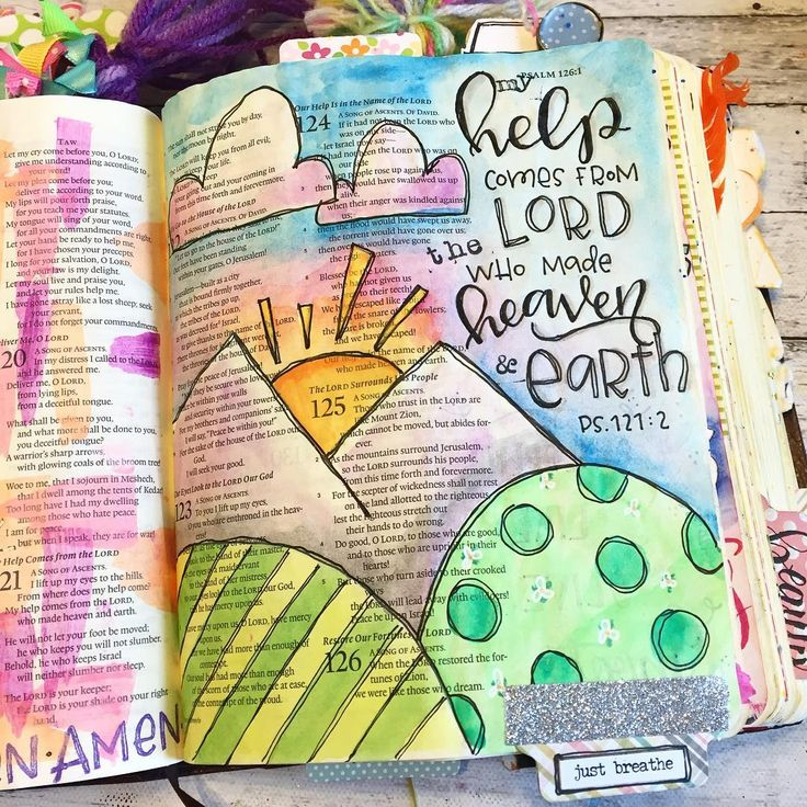 Psalm 121:2 Bible Journaling- Rebecca Rios