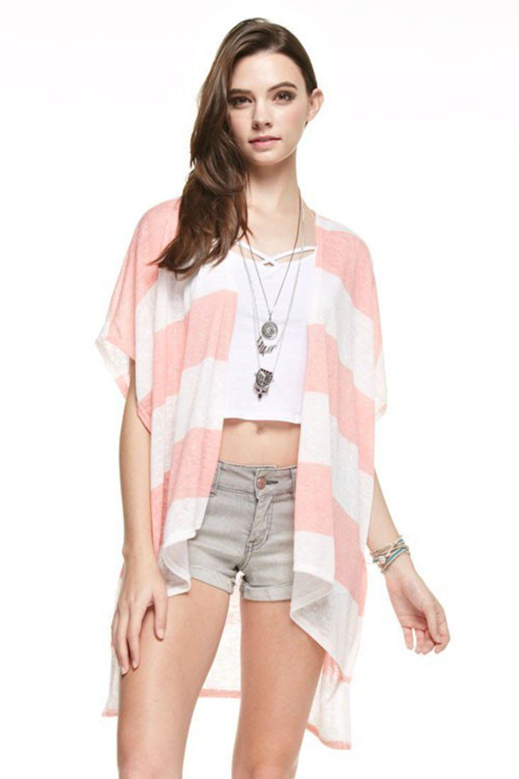 Striped Kimono Cardigan Cover Up | Products