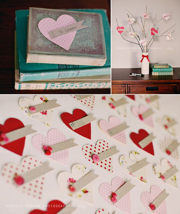 Cultivate feelings of love and appreciation at home throughout the month of February with a simple Valentine's tree. #love #family #valentinesday