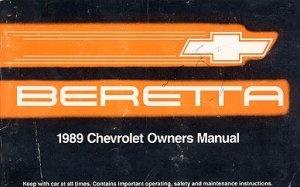 1989 Chevrolet Beretta Owner's Manual