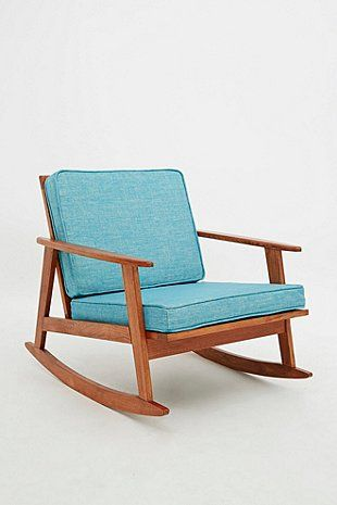 mid century rocking chair in turquoise urban outfitters with rocking chair chambre bb. Black Bedroom Furniture Sets. Home Design Ideas