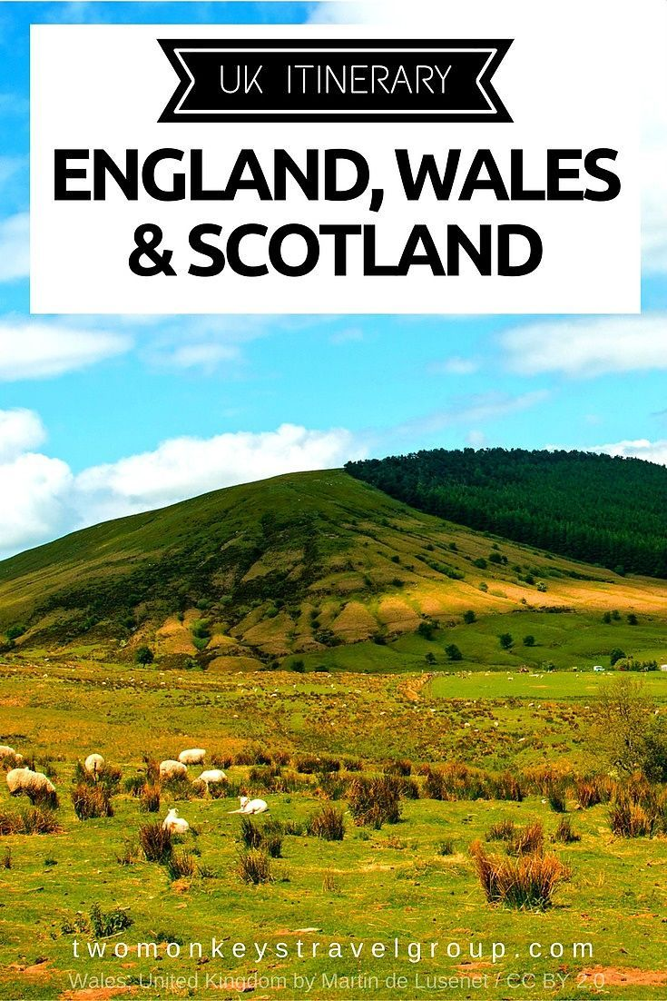 UK Itinerary for travel in England, Wales & Scotland