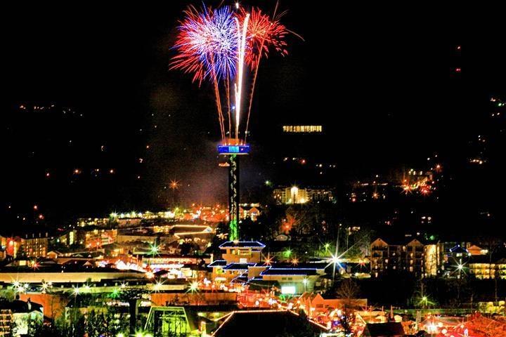 City of Gatlinburg, TN & the Space Needle on New Years Eve | Events in Gatlinburg | Pinterest ...