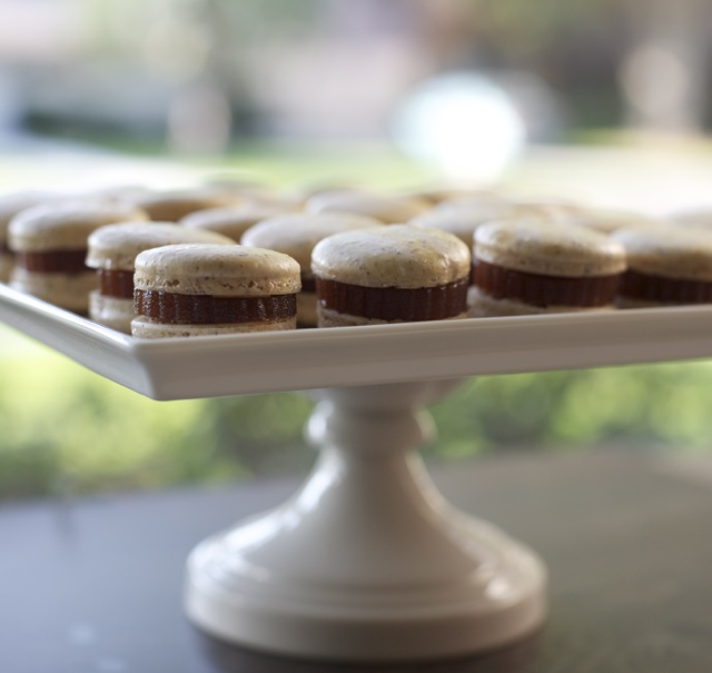 Macarons hazelnuts and quince