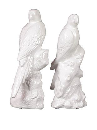 57% OFF Urban Trends Collection Ceramic Parrot Bookends, White