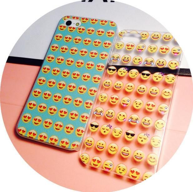 Emoji icon Phone 5 5s 6 6 plus Phone Cover happy funny blue transparent in Cases, Covers & Skins | eBay