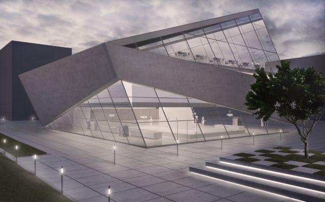 concept of a butique dedicated to the top polish designer La Mania; project: make Architekci
