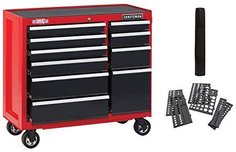 Amazon Com Craftsman Tool Cabinet With Drawer Liner Roll Socket Organizer 41 Inch 10 Drawer Red Cmst82772rb Ho Craftsman Workbench Workbench Craftsman