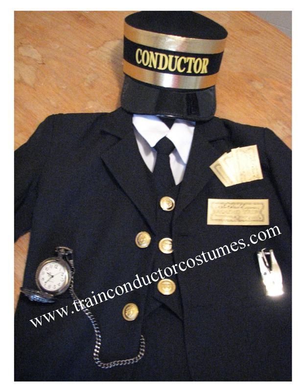 Train Conductor Costume with Pocket Watch! www.trainconductorcostumes.com @Melissa Rogal