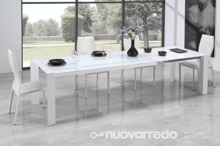Nuovarredo - Scheda prodotto: 675103-Tavolo PORTO bianco laccato - Tavoli in stile Moderno