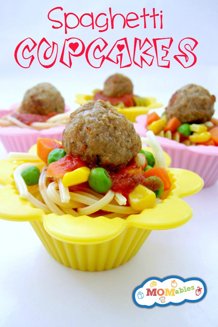 """These easy Spaghetti """"cupcakes"""" are a fun and creative dinner idea that is sure to please any picky eater!"""