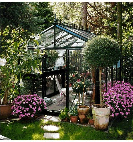 9 best images about greenhouses on pinterest greenhouses for Garden greenhouse designs