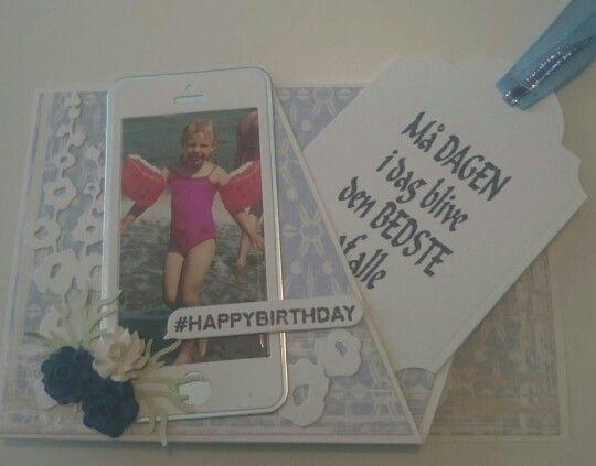 18 års fødselsdagskort - med tag ude