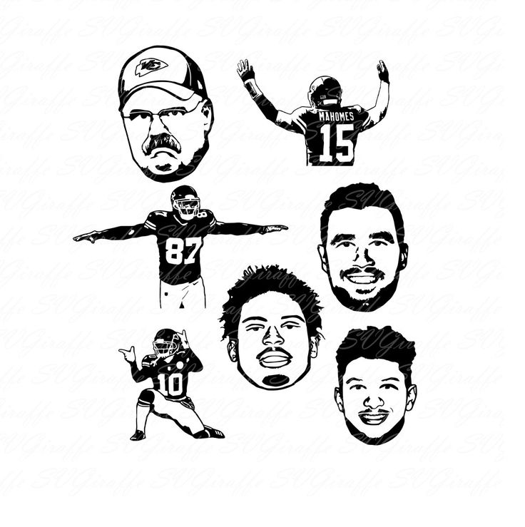 Kansas City Chiefs svg bundle SVG DXF PNG pdf jpg eps