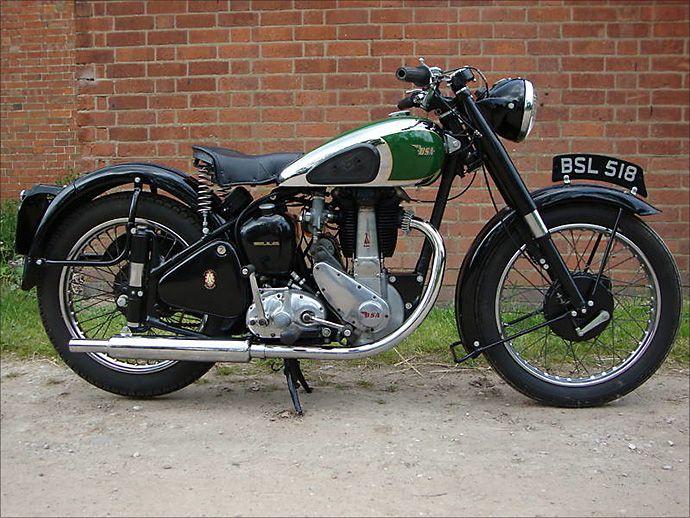 1952 BSA B33 vintage british motorcycle  http://www.pipeburn.com/home/2011/05/25/the-paul-dorleans-vintage-bike-buyers-guide.html