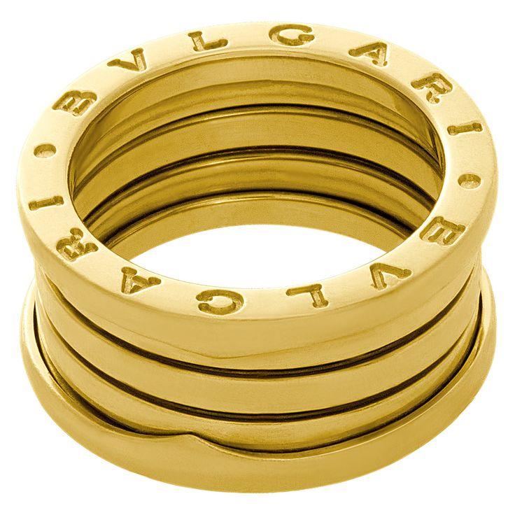 bvlgari b zero1 band in 18k yellow gold