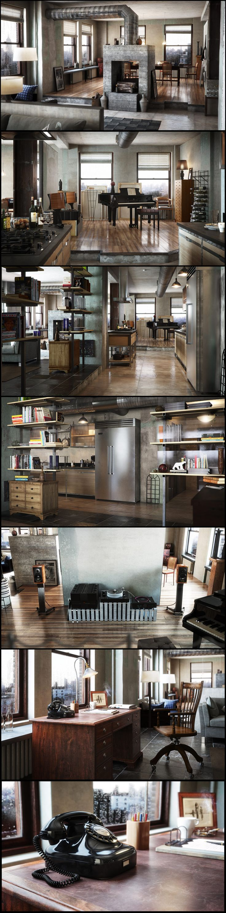 New York Apartment by Latter Got to love what Vray can do for you in these high quality renders. Sick!