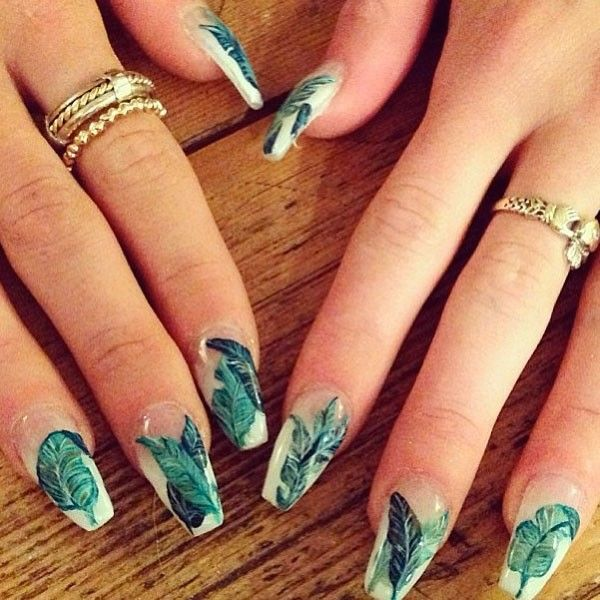 251 best leaf nail art gallery by nded images by NDED.com on ...