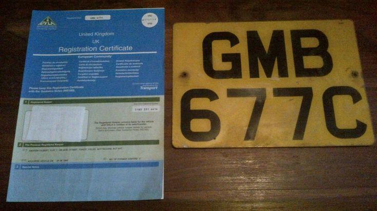 eBay: 1965 LANDROVER S2a V5C, VIN Plate & Reg Plates. Tax Exempt. MOT Exempt in 2018