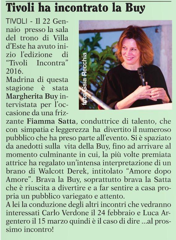 Margherita Buy Xl #TivoliIncontra
